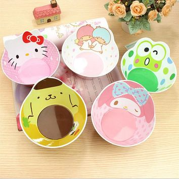 Hello Kitty Mickey Melody child Bowl With Food grade melamine Popular brands Bowl Slip-resistant Tableware Set New Arrival