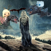 Game of Thrones Night King on Dragon Dragon & Daenerys Collectible Action Figure