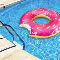 Gigantic Pink Donut Pool Float
