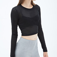 FOREVER 21 Shadowstripe Crop Top