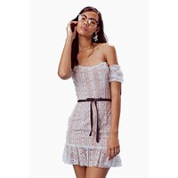 Dakota Off Shoulder Lace Mini Dress - White