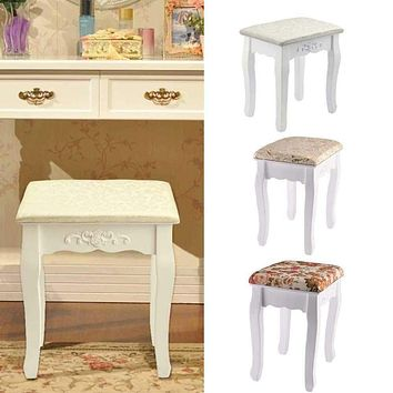 Dressing Piano Reading Table Stool Padded Chair Rest Makeup Seat Baroque Tocadores Para El Dormitorio Vanity Stool Dresser