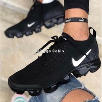 Nike Air Vapor Max 2.0 Men's and Women's Shoes Yinyang New Year Black Gold  Men's and Women's Atmospheric Cushion