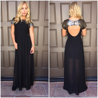 Full Moon Sequin Maxi Dress