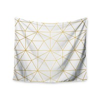 Gold Geometric Trendy Gypsy Wall Tapestry