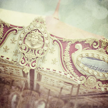 Carousel Art Photograph Merry Go Round by LisaRussoPhotography