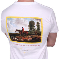 Foxhunt Tee in White by Southern Marsh