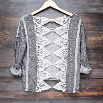 open back oversize slouchy pull over (more colors)