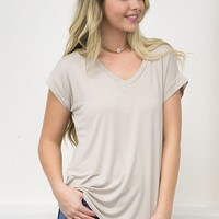 Plain Bamboo Top | Nude