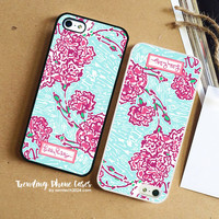 Pi Beta Phi-Lilly Pulitzer iPhone Case Cover for iPhone 6 6 Plus 5s 5 5c 4s 4 Case