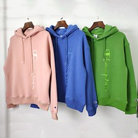 Champion New fashion embroidery letter hooded long sleeve sweater