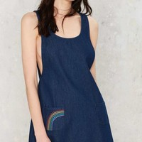 Motel Pocket a Rainbow Denim Dress