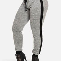 Knitted Jogger Pants with Black Detail