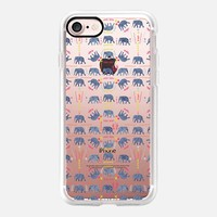 Patterned Elephants(clear) iPhone 7 Case by Kanika Mathur | Casetify
