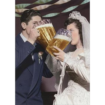 Wedding Greeting Card - A Couple of Beers