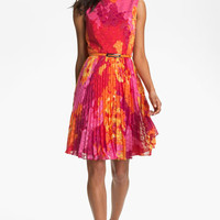 Adrianna Papell Print Fit & Flare Dress