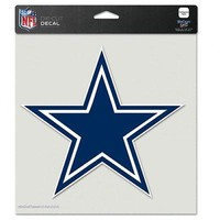 """DALLAS COWBOYS 8""""X8"""" TEAM COLOR DIE CUT DECAL NEW & OFFICIALLY LICENSED"""
