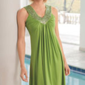 Embellished Knit Swimsuit Cover-Up