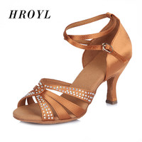 New arrival Ladies Latin dance shoes exquisite satin diamond ballroom dancing shoes for Women/Girls