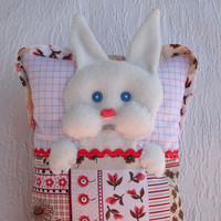 Pillow doll, Cloth doll, Fabric doll, Bunny cushion, Soft toy for  toddlers, Handmade