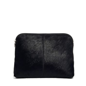 ASOS Leather Clutch Bag In Pony And Soft Construction