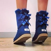 UGG double bow mid-cut snow boots Shoes