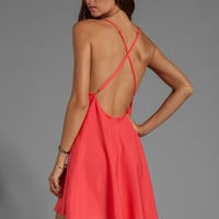 Naven Babydoll Dress in Neon Coral from REVOLVEclothing.com
