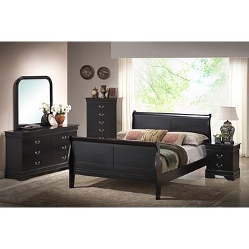 C5934A Black Louis Philippe Bedroom