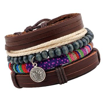 The Lori Stacked Leather Bracelet