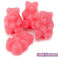 Pink Strawberry Gummy Bears: 5LB Bag | CandyWarehouse.com Online Candy Store