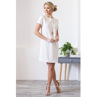 Meghan Darling Cocktail Dress | White