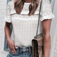 Summer new short-sleeved sweater top T-shirt female