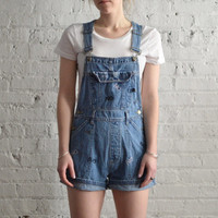 """Embroidered """"NO"""" Overalls - Size S"""
