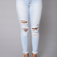 Bad Gal Jeans - Light Wash