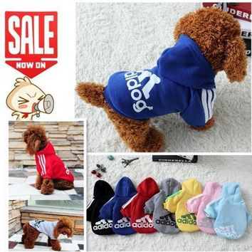 Pet Dog Clothes Autumn Winter Hoodie Coat Jumpsuit Sweater Adidog Clothing for Large Dogs Medium Small XS S M L XL XXL = 5987655041