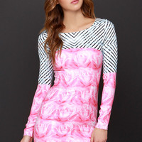 A-Mazed by You Pink Print Dress