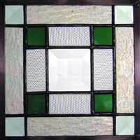 Jo's Bevel Stained Glass Quilt Square in Green