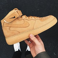 Nike Air Force 1 Mid Flax Wheat Mineral Yellow