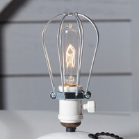 Industrial Desk Light - Wire Cage Table Lamp