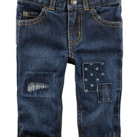 5-Pocket Distressed Jeans
