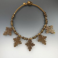 Vintage One-of-a-Kind Coptic Cross Necklace