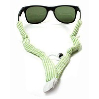 Mint Green Seersucker Bottle Opener Sunglass Straps by Gobi Straps