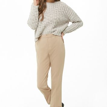 Tapered Cuffed Ankle Trousers