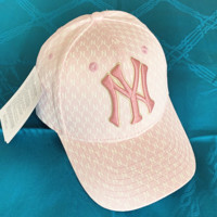 NY Fashion New Embroidery Letter More Letter Print Sunscreen Travel Women Men Cap Hat Pink