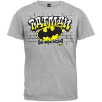Batman - Graffiti T-Shirt (Size: M, Color: Grey) = 1927849604