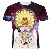 Space Galaxy Cartoon T-Shirt