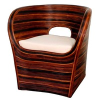 Saona Rattan Arm Chair ZEBRA