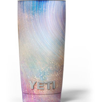 The Swirling Tie-Dye Scratched Surface Yeti Rambler Skin Kit