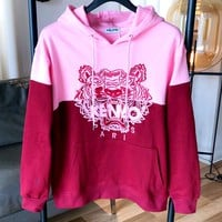 Kenzo 2019 new embroidered tiger head logo stitching hoodie