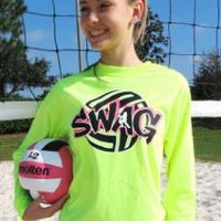 """SWAG"" - Volleyball T-shirt by VictorySportsGraphics"